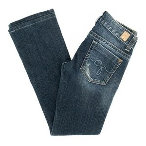 Guess Jeans Daredevil Boot Cut Stretch Low 24X28